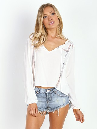 MinkPink Final Wish Blouse White