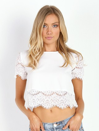 MinkPink Atlanta Top White