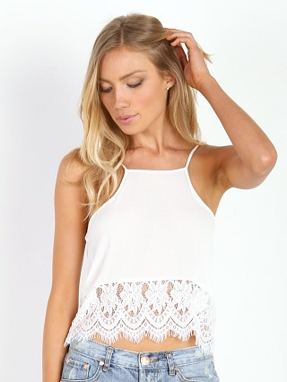 MinkPink Beachside Breeze Tank White