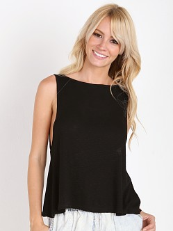 MinkPink Salt Sea Kisses Swing Tank Black