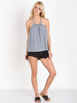 MinkPink Mix It Up Top Navy/White
