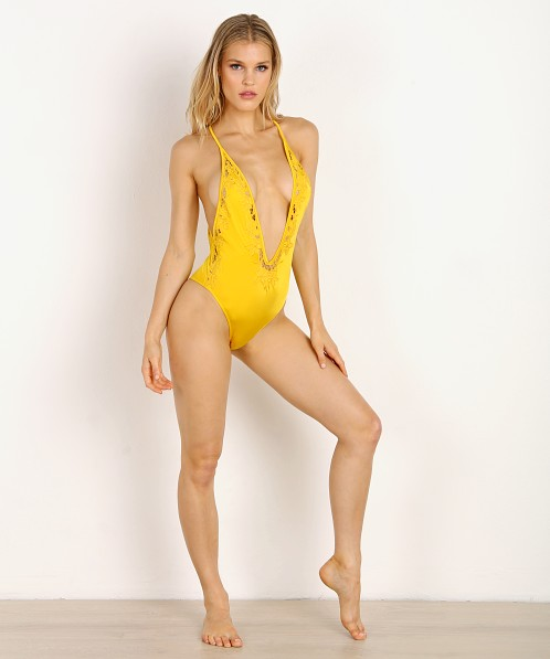 Indah Majorca Lace Edge One Piece Canary