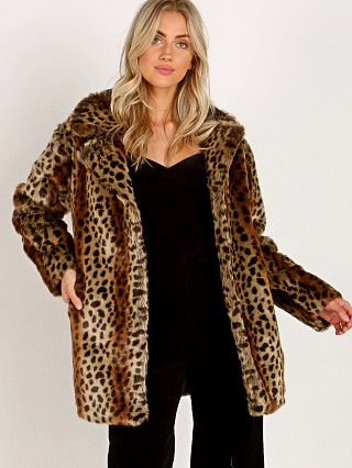 Model in leopard Heartloom Mika Jacket