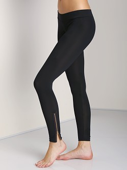 LNA Clothing Zipper Legging Black Licorice