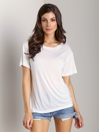 LNA Clothing Dixon Cutout Tee White