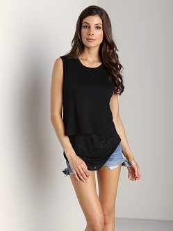 LNA Clothing Harris Top Black