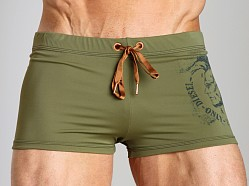 Diesel Aloha Mohawk Swim Trunk Hunter Green