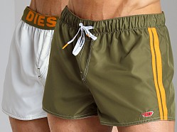 Diesel Coralrif Fresh & Bright Reversible Swim Shorts Hunter Gre