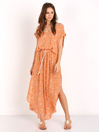 Faithfull the Brand Toby Midi Dress Bermuda Print Blush