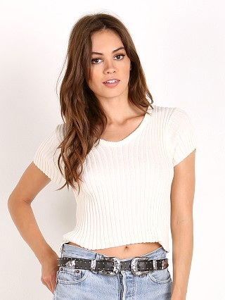 Faithfull the Brand Cara Knit Top Off White