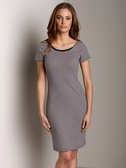 Splendid Ballet Tank Dress Denim Stripe
