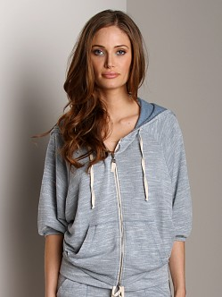 Splendid Hazy Zip Up Hoodie Chambray