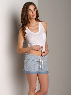 Splendid Hazy Drawstring Shorts Chambray