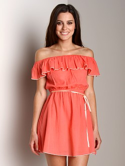 Undrest Charlotte Off The Shoulder Nightie Salmon