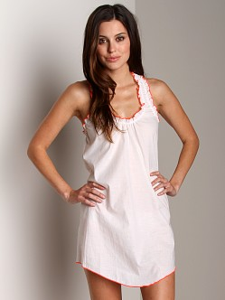 Undrest Charlotte Racer Nightie White/Poppy