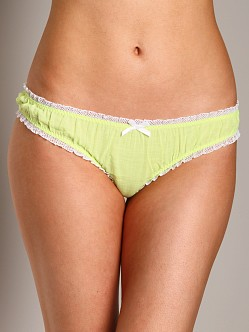 Undrest Charlotte Boyshort with Ruffle Trim Honeydew