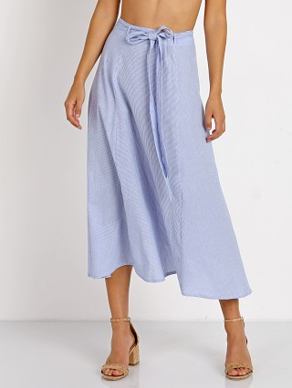 Faithfull the Brand Caribe Wrap Skirt Belize Stripe