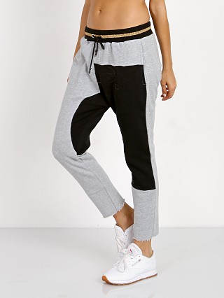 PE NATION Split Lane Track Pant Grey Marl