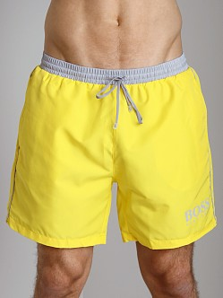 Hugo Boss Starfish Swim Shorts Yellow