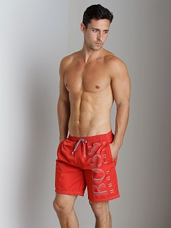 Hugo Boss Killifish Swimsuit Red