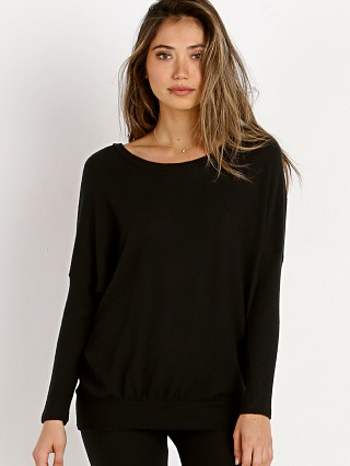 Model in black Eberjey Cozy Time Slouchy Tee
