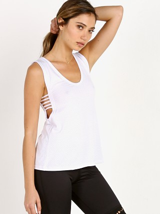 Track & Bliss Scoop Neck Wanderer Tank White