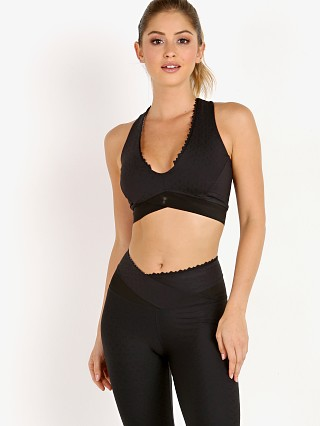 Track & Bliss Hexagon Jacquard Sports Bra Black