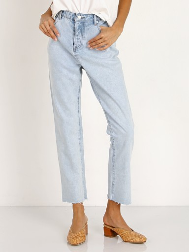 Zulu & Zephyr Zed High Rise Straight Leg Jean Light Blue Wash