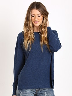 LNA Clothing Cozy Pullover Blue