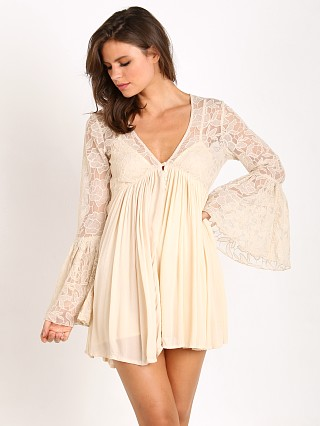Free People With Love From India Lace Dress Tea