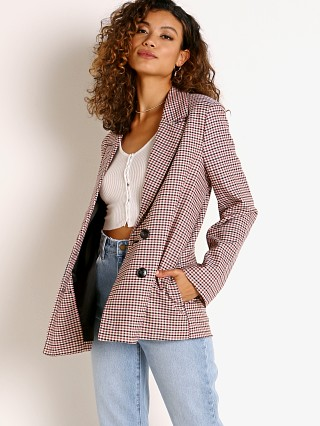 Model in downtown check Rollas  Blazer