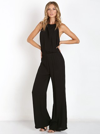 Indah Tang Open Back Halter Jumpsuit Black