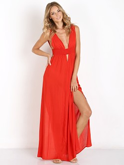 Indah Anjeli Empire Maxi Red