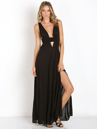 Indah Anjeli Empire Maxi Black