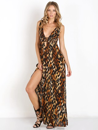 Indah Anjeli Empire Maxi Cheetah