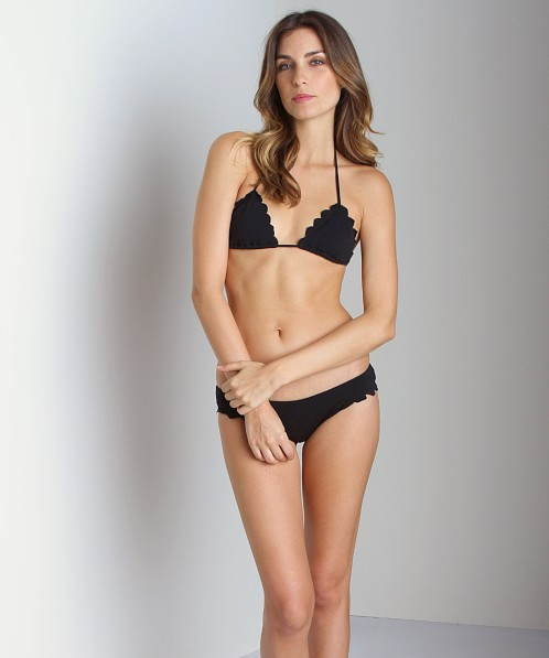 Beach Riot + Stone Cold Fox Lagoon Bikini Top Black