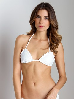 Beach Riot + Stone Cold Fox Lagoon Bikini Top White