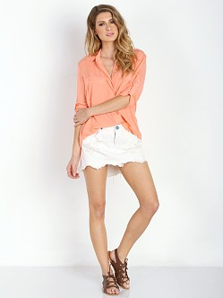 Bella Dahl Split Back Button Down Sunkissed Coral