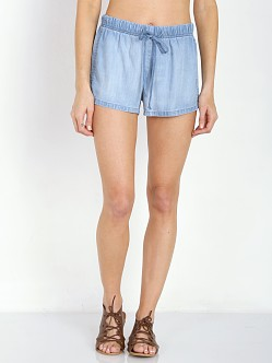 Bella Dahl Side Seamed Short Light Mist