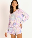 Onzie High Low Sweatshirt Neon Tie Dye, view 2