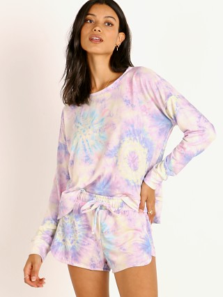 Complete the look: Onzie High Low Sweatshirt Neon Tie Dye