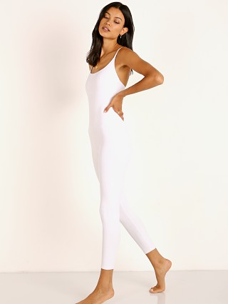 Model in white rib Onzie Rib Leotard