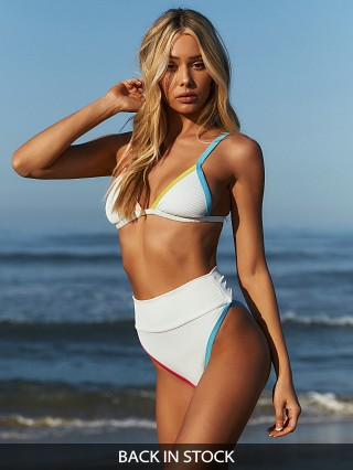 Beach Riot Highway Bikini Bottom White