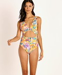 Beach Riot Lana One Piece Abstract Floral, view 2