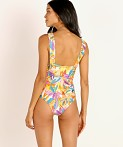 Beach Riot Lana One Piece Abstract Floral, view 4