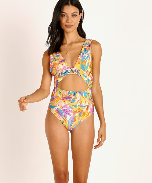 Beach Riot Lana One Piece Abstract Floral