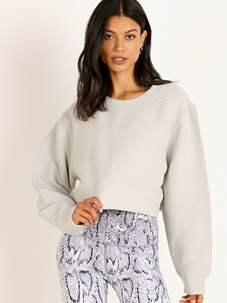 Varley Albata Crop Sweater Grey Mint