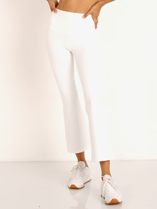 Splits59 Raquel High Waist Crop Legging Off White