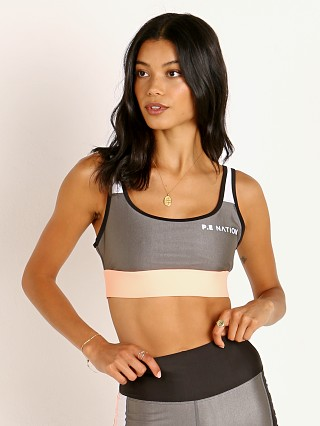 PE NATION Side Runner Sports Bra Pewter