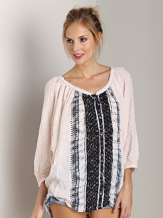 Free People Days of Romance Top Ivory